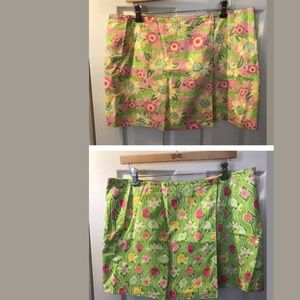 New LILLY PULITZER Reversible Skirt Croc Floral